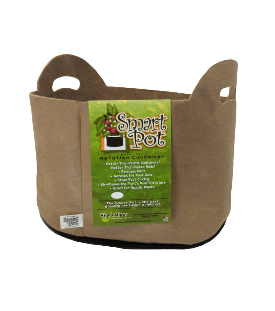 Smart Pot 7 Gallon Tan w/cut handles