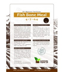Fish Bone Meal – Organic Soil Amendment Medium: 1.6KG